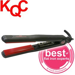 "KQC X-Heat Tourmaline Ceramic Flat Iron (1"" inch)"
