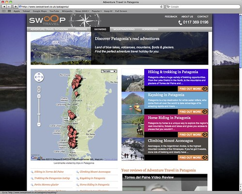 swoop travel, adventure travel in patagonia
