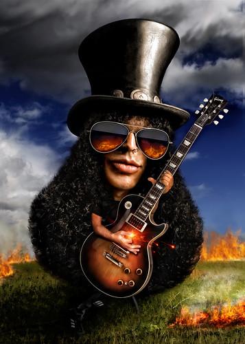 [フリー画像] グラフィックス, イラスト, 人物(イラスト), ミュージシャン, ギター, 201010120500