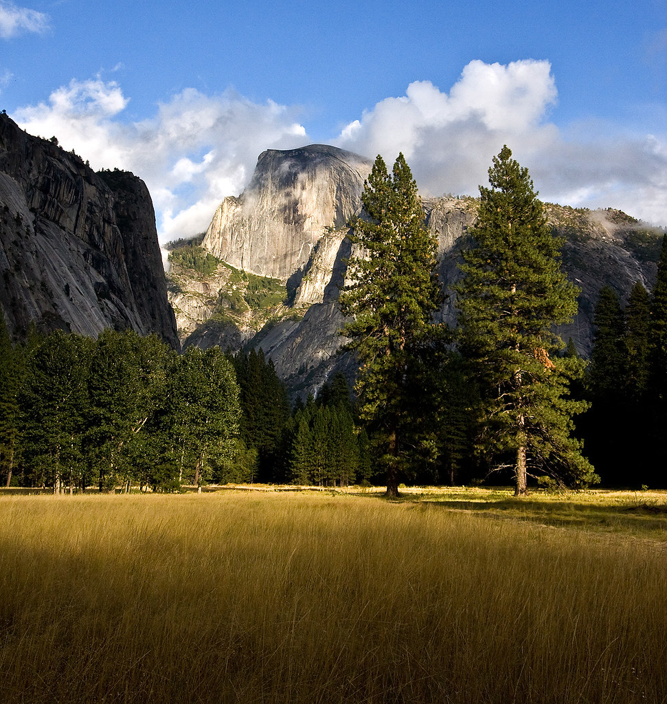 Half Dome from Yosemite Valley by Kpucster