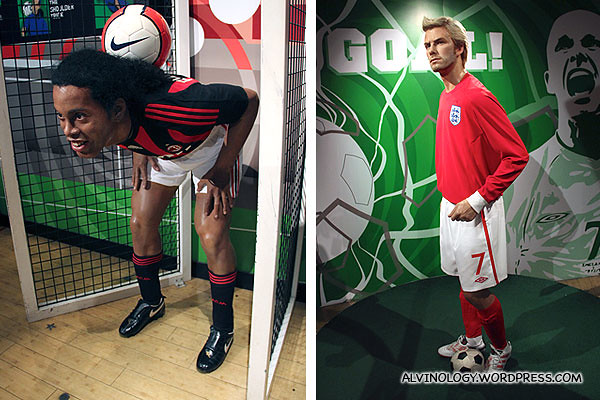 Didi Drogba with David Beckham