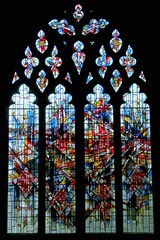 Westminster window 2, Chester Cathedral (robin.croft) Tags: cathedral stainedglass chester anglican dukeofwestminster alanyounger