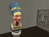 A closeup of a bust of Nefertiti crafted by the sculptor Thutmose in virtual Amarna (Akhetaten) (mharrsch) Tags: sculpture ancient egypt 18thdynasty nefertiti akhenaten virtualworld thutmose meritaten amarna virtualenvironment mharrsch akhetaten heritagekey