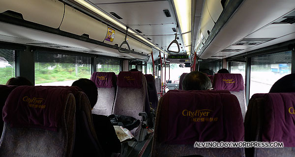The airport transfer bus was quite cosy and comfortable