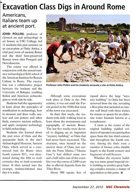 PROFESSOR John Pollini from USC educationg students on Ostian Archaeology by Joe Geranio