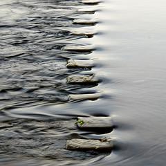Yang : Yin (David (UK) - Gone) Tags: england water yorkshire steppingstones yinandyang turbulence boltonabbey riverwharfe