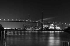 Bridge in the night;