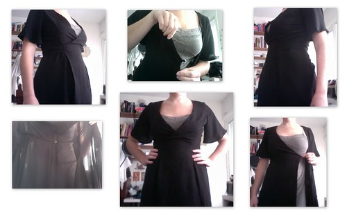 Black wrap-around dress