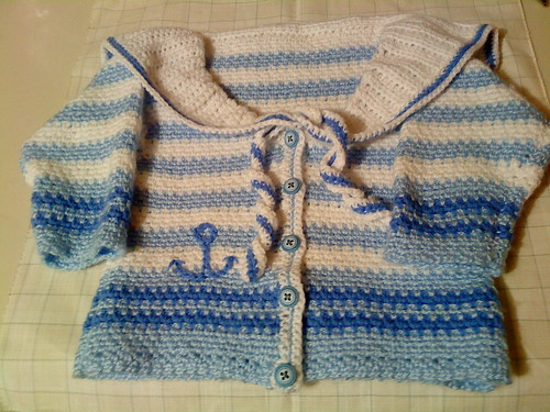 Crocheted sailor Cardigan
