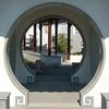 Chinese Doorway (Cymbidium Clarisse) Tags: door gardens d50 botanical nikon san library huntington doorway chinesegarden dslr digitalslr marino circular 美國 美国