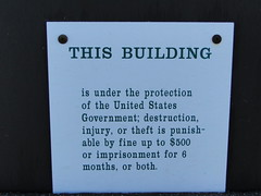 Warning on Tolmie lookout.