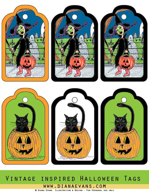 Spooky vintage Labels - blog