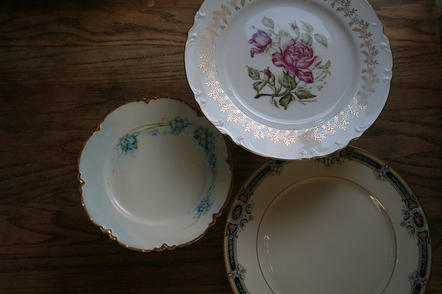 pretty antique plates