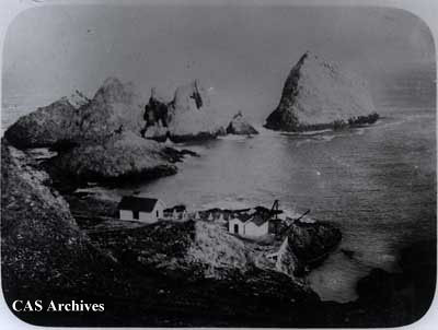 """Fisherman's Bay' and 'North Landing' South Farallon Island July '96."""