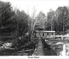 Power Station in Dublin New Hampshire (Keene and Cheshire County (NH) Historical Photos) Tags: trees stream pipe powerplant powerstation dublinnh waterpower dublinnewhampshire maryerobbe