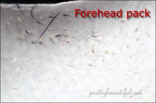 skinfood eggwhite pack peel off pack for forehead result