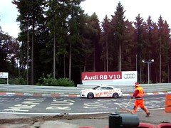 Audi control car at Nürburgring