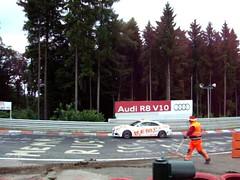 Audi control car at Nürburgring