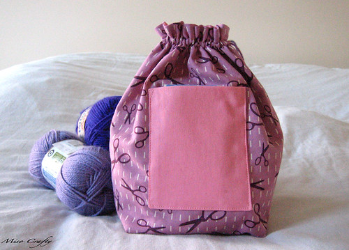 Drawstring Project Bag - Closed