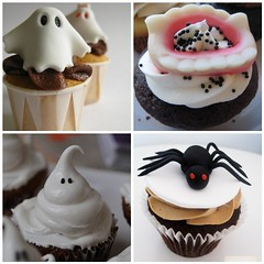 Halloween Cupcakes (toriejayne) Tags: white black halloween spider cupcakes teeth ghost buttercream