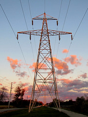 Power at Sunset IMG_0997 cr str lvl (Jennz World) Tags: sunset ontario canada tower hydro brantford superzoom powerlineroad pse7 sx30is canonpowershotsx30is