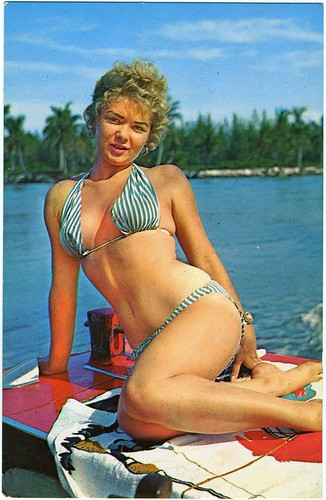 Color Postcard: The Girl In The Blue And White Striped Bikini Whose Name I Can't  Remember [PG-Rated Version]