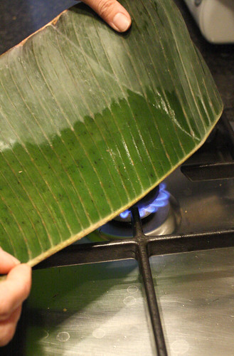 Preparing suman: banana leaf preparation