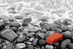 Selective (Larsenio) Tags: ocean wood longexposure autumn sea bw mushroom norway landscape coast norge blacknwhite sh havet høst shutterspeed landskap bølger selectivecolour kyst andøy trestokk pentaxk10d