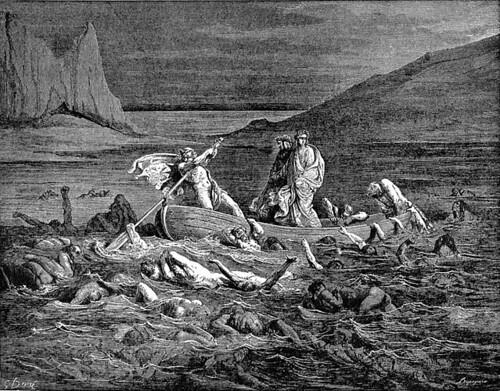 Dante: Divina Comedia: Inferno: Barca Estigia