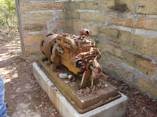 Old generator, Robbers' Cave State Park, OK