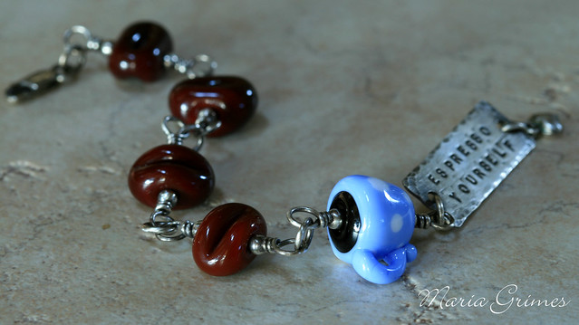 Espresso Yourself Lampwork Bracelet
