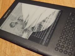 Cracked Kindle screen by editorialgirl on Flickr
