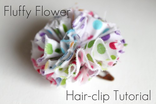 How To Make Fluffy Flower Hair Clip