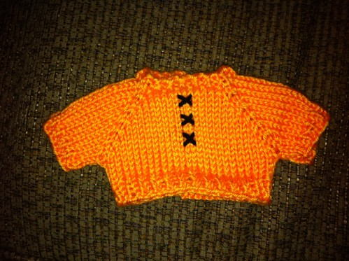I upped the ante and knit bear a sweater...