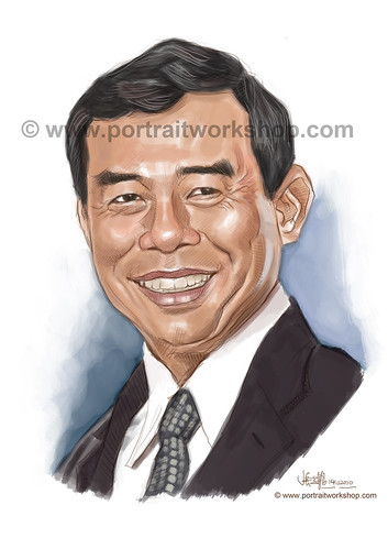 digital portrait illustration of Kwek Siew Jin watermark