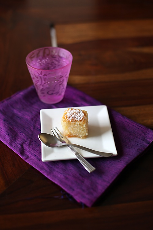 Semolina Honey Lemon Syrup Cake/ Basbousa Or Namoura