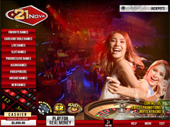 21Nova Casino Lobby