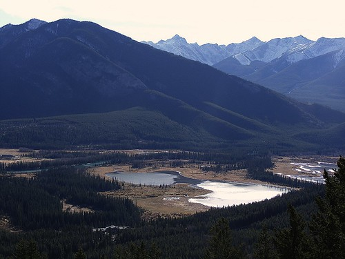 looking down from Mt.Norquay