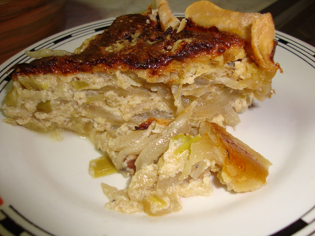 leek and onion pie