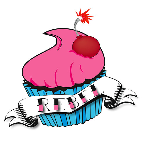 Rebel Cupcake Logo