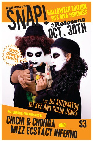 Two Big Portland Halloween Parties @ Holocene This Weekend: SNAP & FiN DE CINEMA