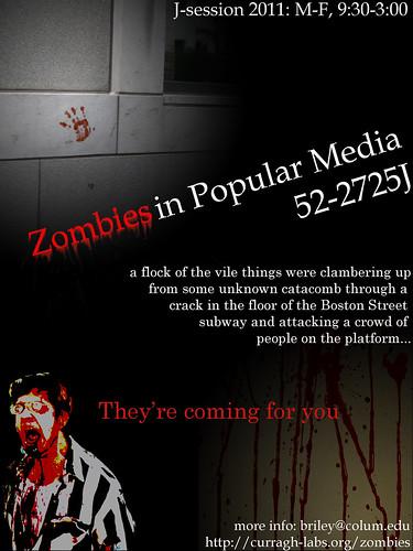 Zombies in Popular Media, 2011