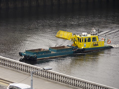 Glasgow City Council Dredger (martinus_71) Tags: water river lumix scotland riverclyde boat glasgow dredger glasgowcitycouncil centralstationroof fz38