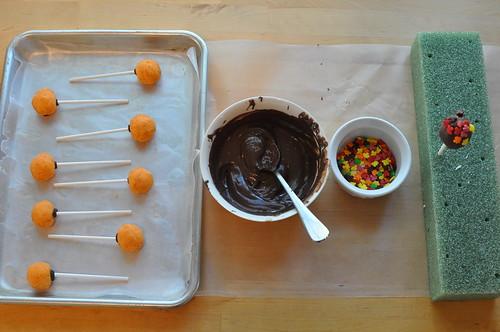 cake balls cover setup