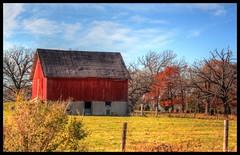 Eagle Lake Barn (newagecrap) Tags: autumn wisconsin rural landscape country barns farms hdr racinecounty midwestbarn newagecrapphotography