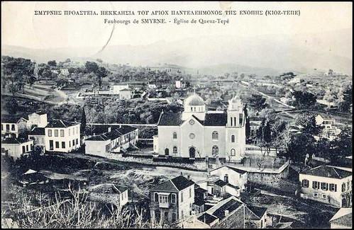 Karpostallarda yangından önce İzmir, Göztepe