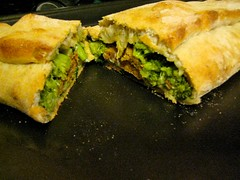 Veggie and Pesto Stromboli