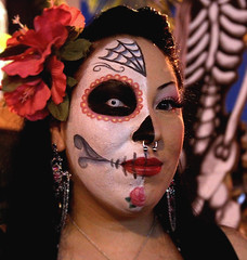 Noche de Altares, Santa Ana 11 (Marcie Gonzalez) Tags: california santa county ca family friends orange woman usa face festival female night america canon festive de dead mexico skeleton fun photography skull noche ana us dance costume los paint day dancing stage painted events traditional north performance festivals honor dia calif altar celebration southern mexican event celebrations socal cal diadelosmuertos muertos annual gonzalez tradition 8th marcie altars 2010 altares costums so nochedealtares marciegonzalez marciegonzalezphotography