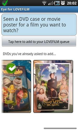 8 - LOVEFiLM - main screen