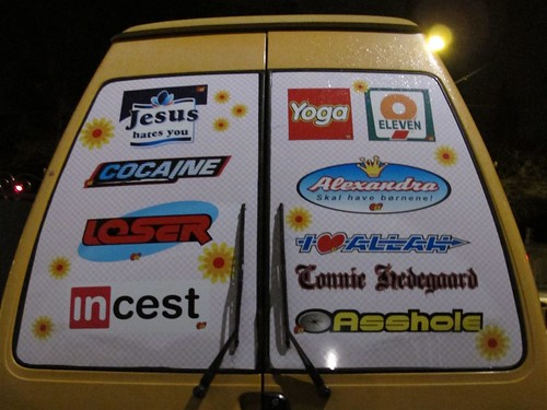 Sticker van